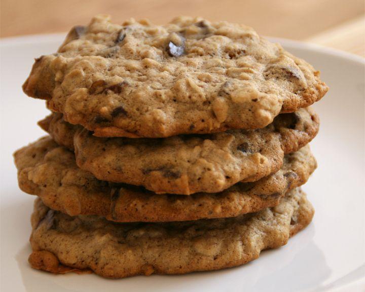 Vegan + Gluten-Free} Oatmeal Raisin Chocolate Chunk Cookies