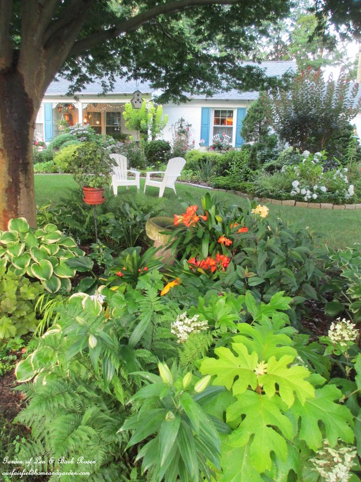 Landscaping Ideas For Front Yard Shade : Front shade garden