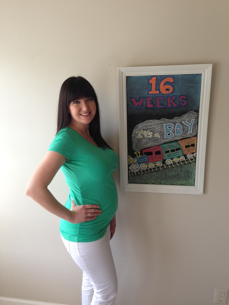 Pregnancy Chalkboard - 16 Weeks - Boy | My Pregnancy Chalkboard | Pin ...