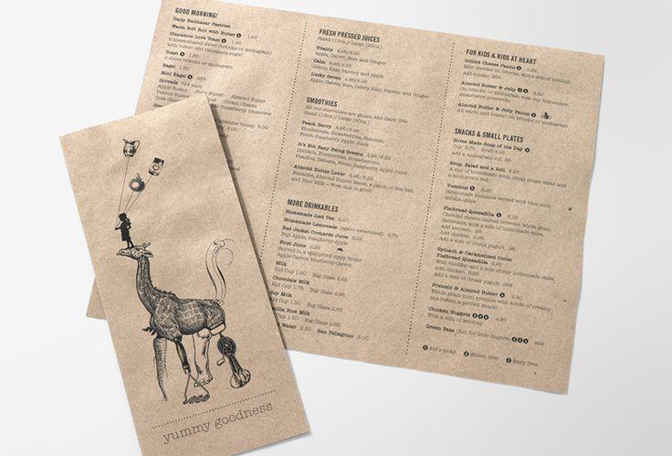 Как сделать меню на бумаге