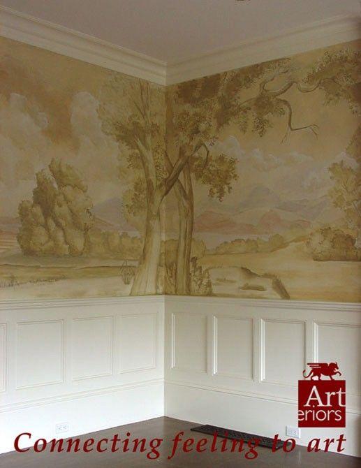 victorian wall mural decor house pretties pinterest