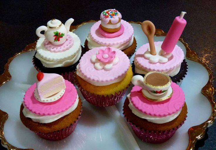 Cupcake Decorating Ideas For High Tea : Cupcakes for a Kitchen Tea My Sisters Cakes Pinterest