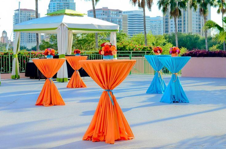 Vibrant cocktail tables party ideas pinterest for Cocktail tables party