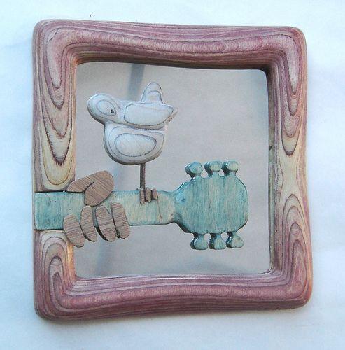 Plywood Sculpture...Woodstock Mirror | 1. Wood Sculpture | Pinterest