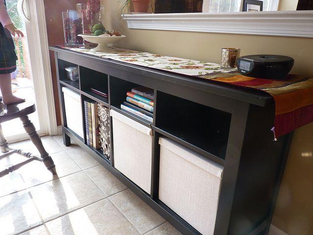 IKEA HEMNES Sofa Table And KVARNIK Boxes Living Room Ideas Pinter