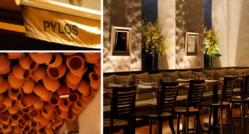 creativo soffitto Bar : ... pot ceiling, stucco/brick walls, blue doors, wine bar = transported