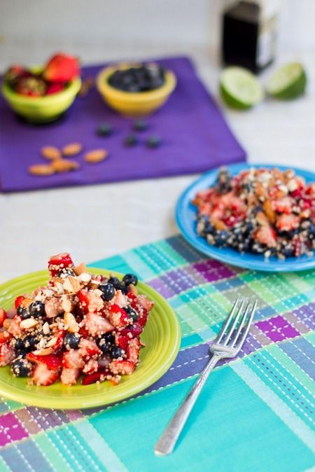 High Protein Quinoa Almond Berry Salad | Food & Recipes | Pinterest