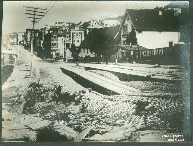 Union Street Near Pierce, by Stoddard [attributed], 1906, held by ...