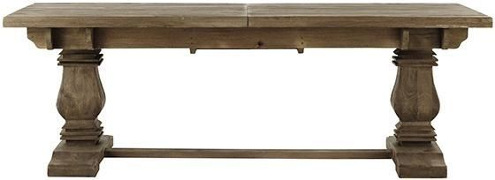 Farmhouse Style Trestle Dining Table W Leaf 107 French 1400 110 Sh