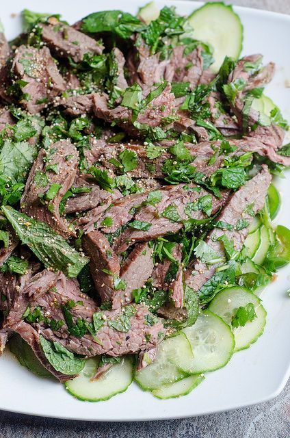 Thai Grilled Steak Salad by Pink Parsley Blog, via Flickr