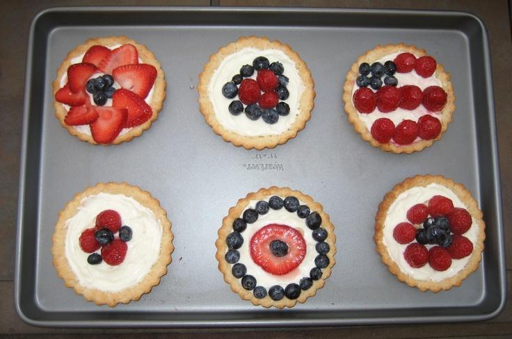 4th of july dessert tart