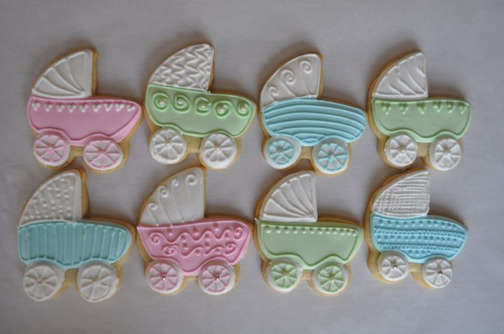 Cookie Icing | Baby Carriage Cookies with Royal Icing | Suz Daily