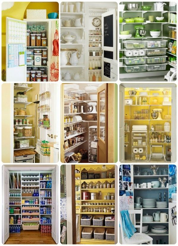 Pantry organization ideas for the home pinterest for Kitchen organization ideas