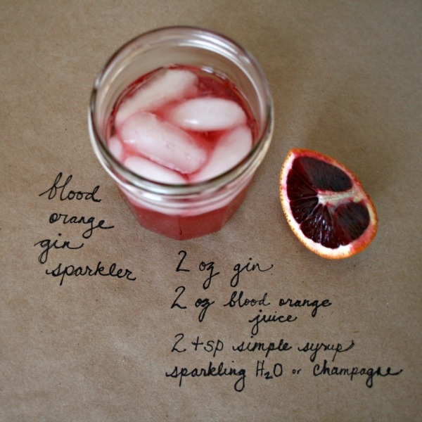 Blood Orange Gin Sparkler » Gin and Juiceboxes