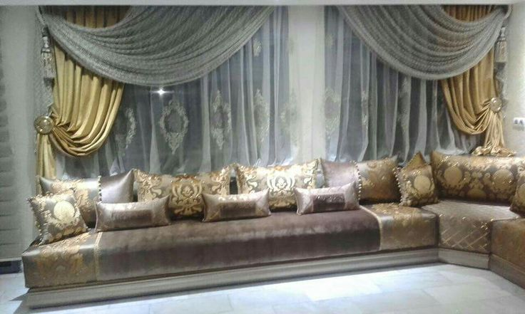 Moroccan living room Moroccan Houses decoration Pinterest - decoration maison salon moderne