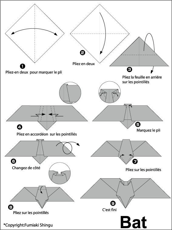 origami bat i love bats pinterest
