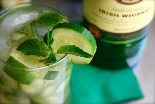 Always Order Dessert: Green Whiskey Smash -- Food Blog and Recipes