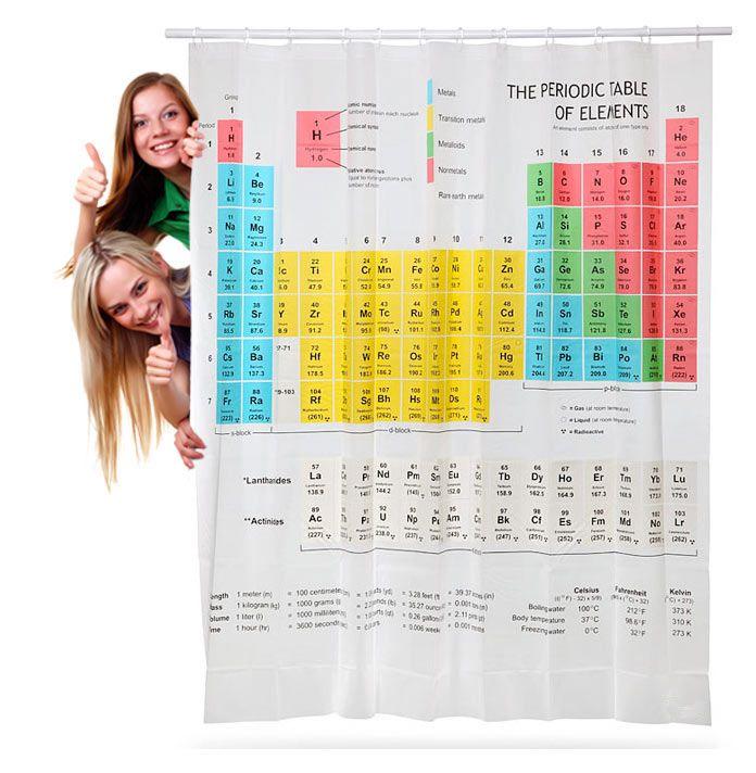 Cortinas De Baño Tabla Periodica:Cortina de ducha Tabla Periódica The Big Bang Theory
