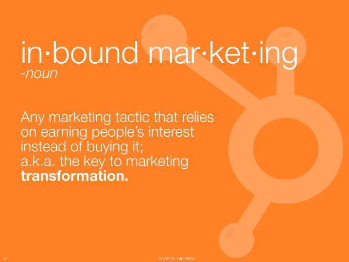 The definition of inbound marketing social media pinterest