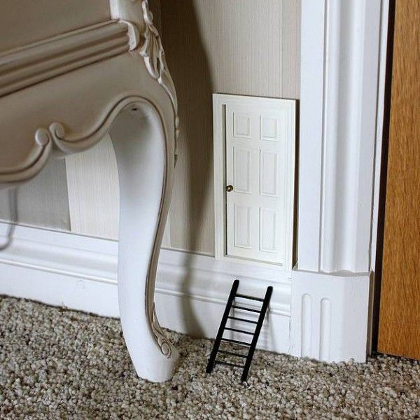 Tooth fairy door art pinterest for Fairy door for bedroom