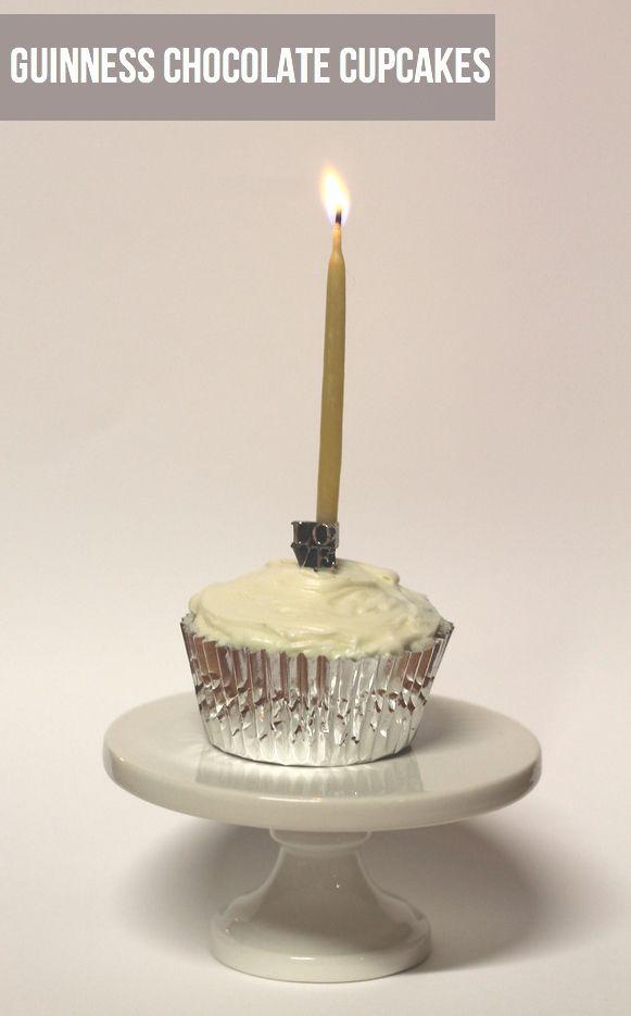 ... good ... Guinness chocolate cupcakes - via mint love social club