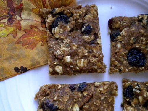 Pumpkin Oatmeal Lavender Bars | Food: Fall/Thanksgiving | Pinterest