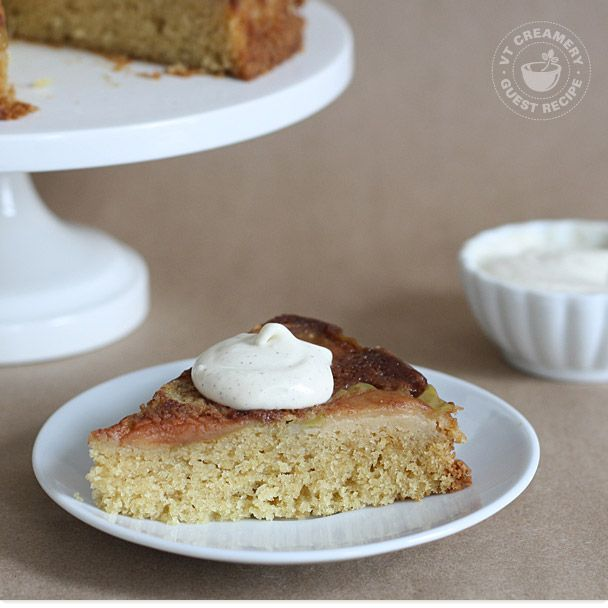 Upside-Down Apple and Crème Fraîche Cake — Lillie Auld, Butter Me ...