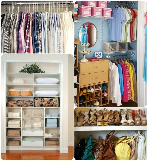 Closet Organization Solutions.  Categorize your items. #springintothedream