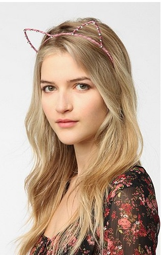cat headband in pink and/or black