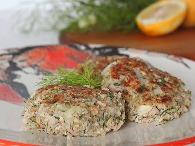 Quinoa Salmon Cakes with Dill and Fennel | Recipe