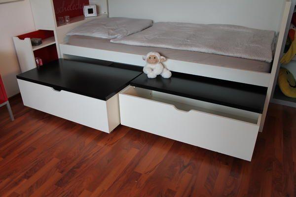 Schreibtisch Ikea Malm Gebraucht ~ Sehr Gut Erhaltenes Ikea Odda Bett Mit Kopfteil Und 2 Bettkästen