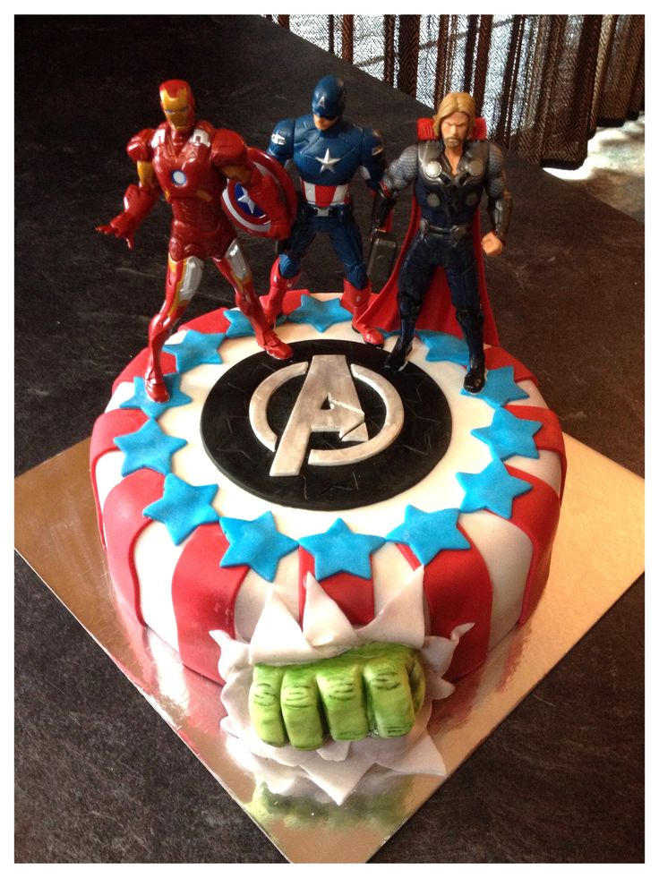 Avengers Cake Kate s Cakes Pinterest