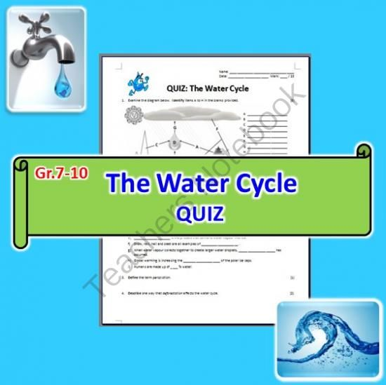 The water cycle - quiz from tangstar science on teachersnotebook.com