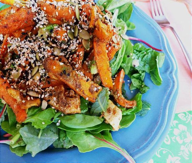 Roasted Carrot, Lemon, Avocado Salad with Tangy Dressing and Toasted ...
