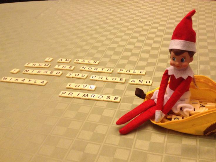 Elf on the shelf is back! | Christmas | Pinterest