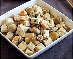 Braised Bean Curd (Firm Tofu) with Mushrooms Recipe