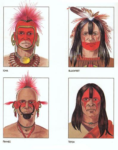 Native american face paint female