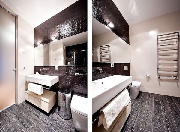Badezimmer Schwarz-Weiß łazienka Pinterest
