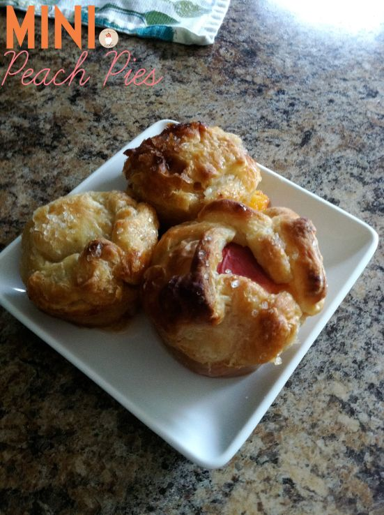 Mini Peach Pies | Let Them Eat Cake | foodness | Pinterest