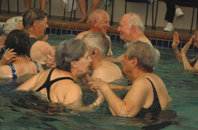Water Volleyball @ Lutheran Senior Services facility Laclede Groves!