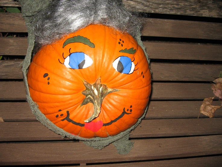 Old Lady Pumpkin We Made D Decorating And Crafting Fun