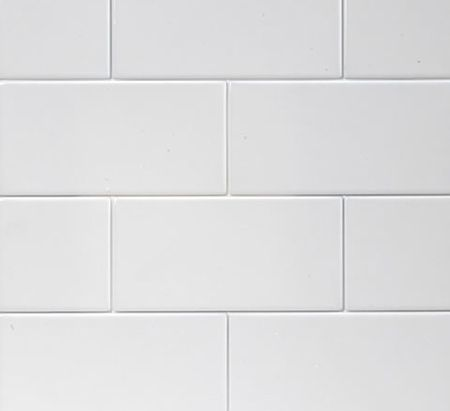 Style House Home White Subway Tile With Light Gray Grout