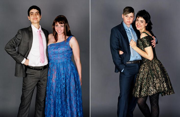 Who's the boy & who's the girl? Couples swap clothes & genders in awesomely awkward prom pix by JJ Levine and who feels more comfortable as a girl? :)