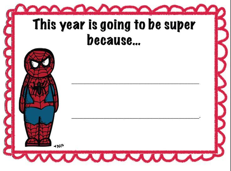 Super Hero Beginning of the Year Bulletin Board - freebie