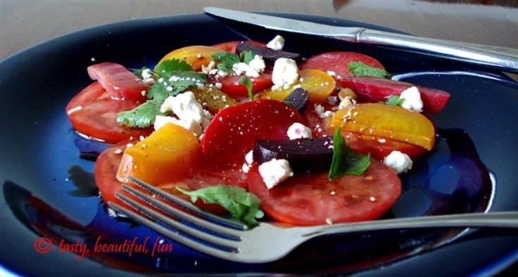 Tomato beet salad | Buds | Pinterest