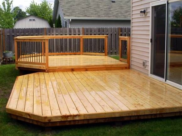 Nice simple back deck like this outdoor pinterest for Simple back deck designs