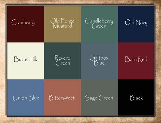 Raystown Primitives 39 Color Choices For The Home Pinterest