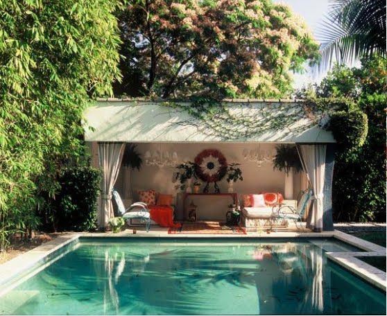 Backyard Pool Houses And Cabanas Garden And Outdoor