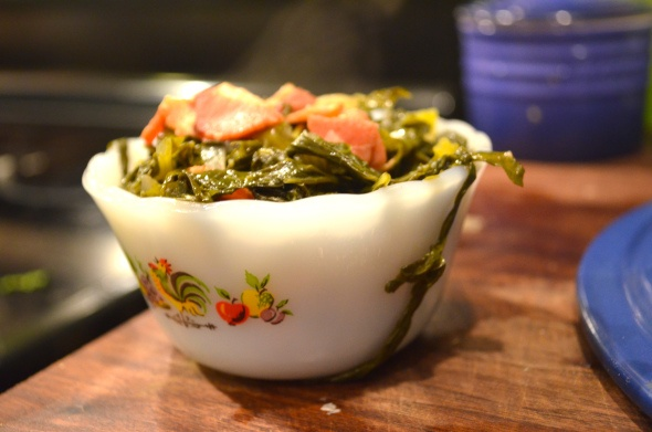 Bacon Braised Turnip Greens | Dinner ideas | Pinterest