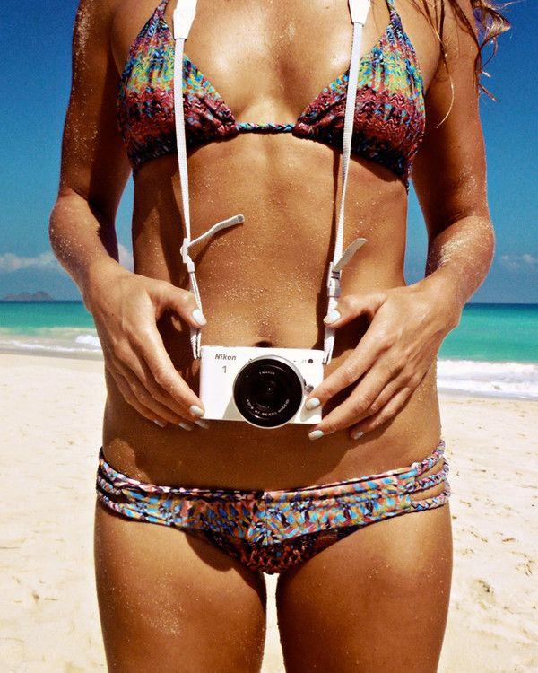 bikini - babe - nikon - camera - photo - beach - summer
